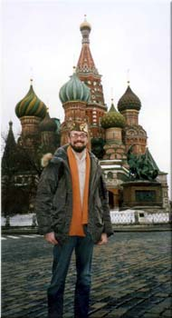 James Tennant at St. Basil's Cathedral in Moscow near Red Square